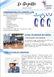 FFDanse – La Gazette – Mars 2021
