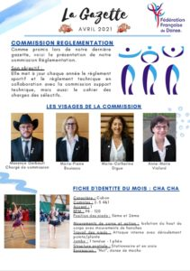 FFDanse – La Gazette – Avril 2021