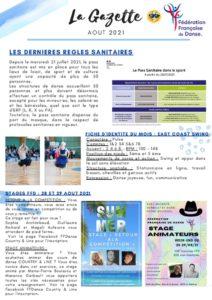 FFDanse – La Gazette – Août 2021
