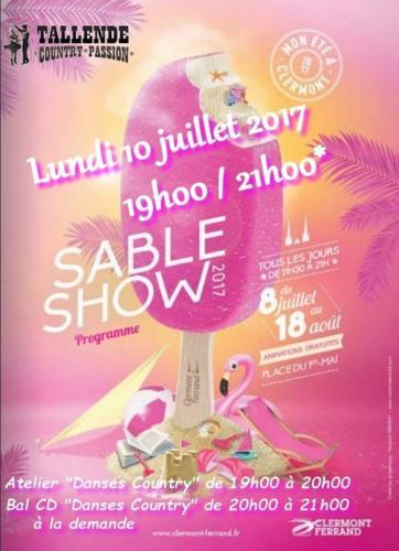 CLERMONT-FERRAND (63) - Sable Show - Lundi 10  juillet 2017