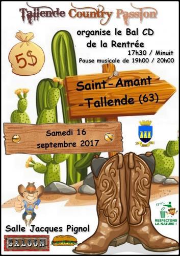 SAINT-AMANT-TALLENDE (63) - Bal Country - Samedi 16 septembre 2017