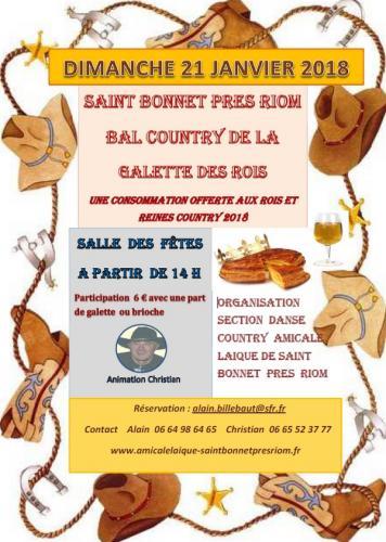 SAINT-BONNET-PRES-RIOM (63) - Samedi 21 janvier 2018