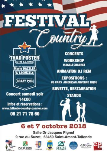 FESTIVAL COUNTRY 2018 - 06 & 07 octobre 2018